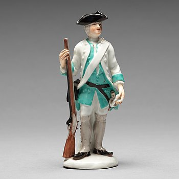 238. FIGURIN, porslin. Tyskland, 17/1800-tal. Omärkt.
