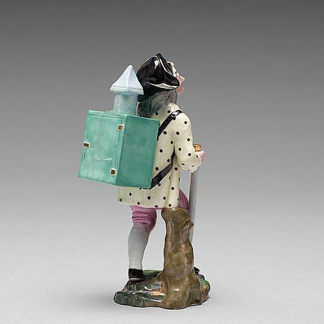"""Figurin, porslin. """"höchstliknande märke"""", 1800 tal"""