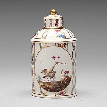 257. TEDOSA med LOCK, porslin. Höchst, sent 1700-tal.