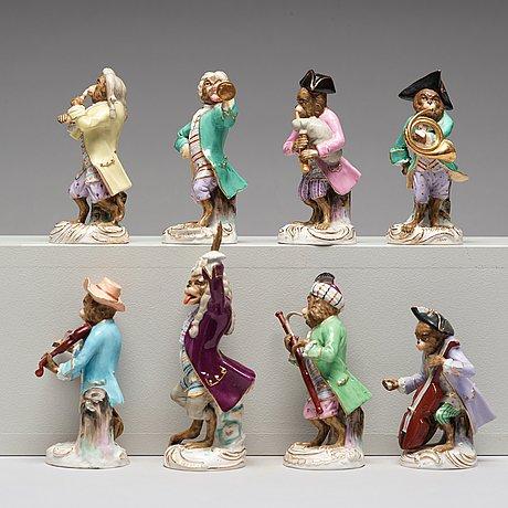 Aporkester, åtta stycken, porslin. 1900 tal
