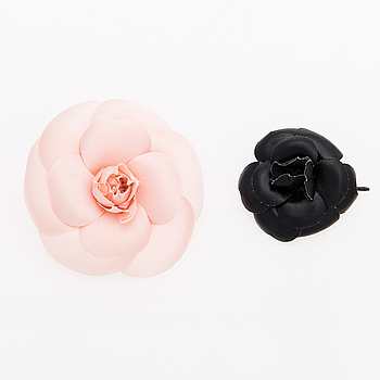 Two Camellia Brooches.