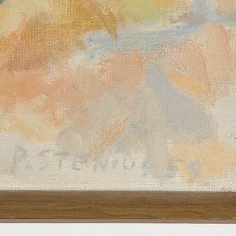 Per stenius, oil on canvas, signed and dated 59.