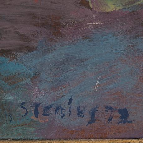 Per stenius, oil on panel, signed and dated stenius 72.