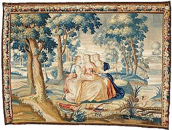 279. VÄVD TAPET, gobelängteknik, Frankrike 1700-tal, ca 276 x 374,5 cm.
