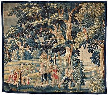 278. VÄVD TAPET, gobelängteknik, Flandern omkring 1700, ca 290 x 326,5 cm.