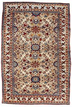 286. MATTA, antik silke Feraghan/Keshan sannolikt, ca 215,5 x 144,5 cm.