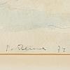 Per stenius, mixed media, signed and dated p. stenius 72.