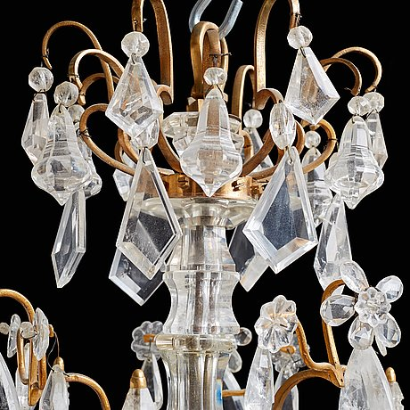 A french 19th century twelve-light chandelier.