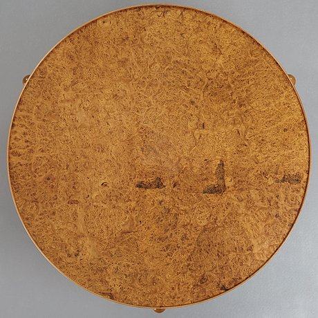 Josef frank, a walnut and burrwood sofa table, svenskt tenn, model 2139, post 1985.