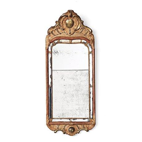 A swedish rococo 18th century mirror by ehrhart göbel (mirror maker in stockholm 1744-64).