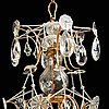 A pair of swedish rococo 18th century six-light chandeliers by olof westerberg dated 1789 and 1790.