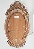 A pair of late gustavian late 18th century one-light girandole mirrors.