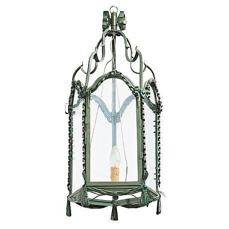 A louis xvi-style 20th century one-light lantern.