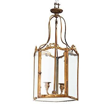 73. LYKTA, för två ljus, Louis XVI-stil, 1900-tal.