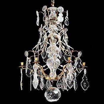 63. LJUSKRONA, för sex ljus, svensk barock, 1700-talets mitt.