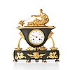 A empire early 19th century mantel clock by hedström in stockholm (ephraim h master in stockholm 1808-1818).