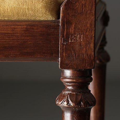 Six gustavian chairs by johan erik höglander (master in stockholm 1777).
