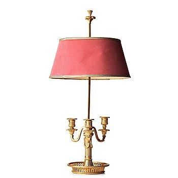 78. BOUILLOTTELAMPA, för tre ljus, Frankrike 1800-tal, Louis XVI-stil.