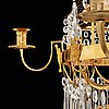 A swedish late gustavian circa 1800 eight-light chandelier attributed to carl henrik brolin (1765-1832).