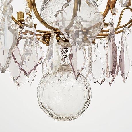 A swedish rococo 18th century six-light chandelier.
