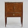 A late gustavian late 18th century chamber cupboard.