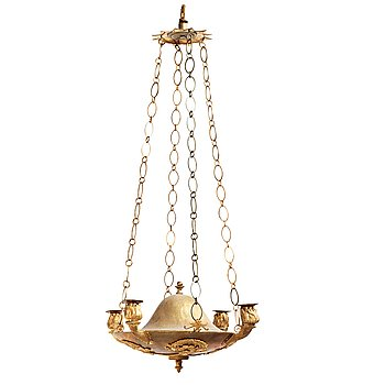 72. AMPEL, för fyra ljus, Sverige, 1800-tal, Karl Johan.
