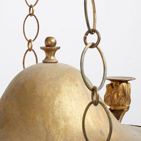 A swedish empire 19th century four-light hanging-lamp.