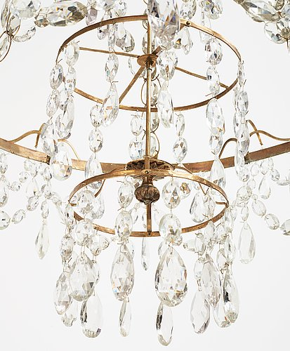 A louis xvi late 18th century six-light chandlier.