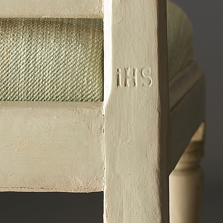 Four late gustavian chairs by johan hammarström, master in stockholm 1794-1812).