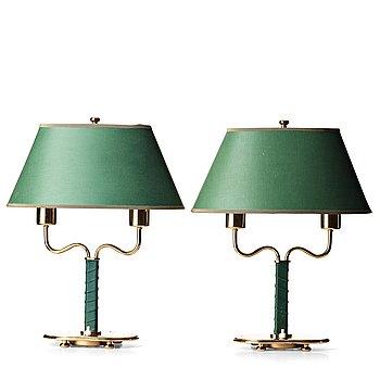 100. Josef Frank, bordslampor, ett par, Firma Svenskt Tenn, modell 2388.