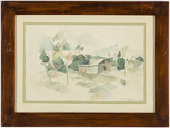PER STENIUS, mixed media, two, signed P. Stenius and dated 57 and 59.