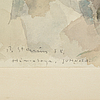 Per stenius, mixed media, signed and dated p. stenius  67