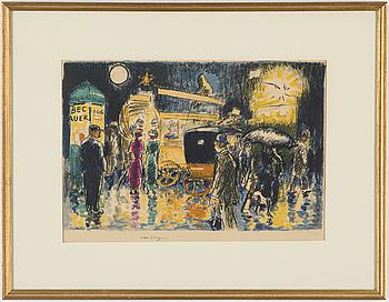 KEES VAN DONGEN, färglitografi, signerad i trycket och numrerad 36/290.