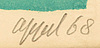 Karel appel, signed litograph 68, e.a