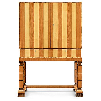 282. GUSTAV BERGSTRÖM, attributed to, a Swedish Grace cabinet on stand, 1930's.