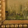 Axel borg, oil on cancas, signed.