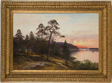 Severin nilson, oil on canvas, signed.