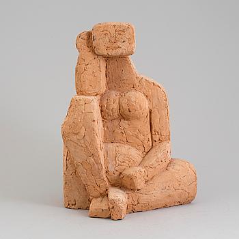 SKULE WAKSVIK, skulptur, terracotta, signerad och daterad 1965.