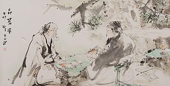 OIDENTIFIERAD KONSTNÄR, akvarell, Kina, 1900-talets andra hälft.