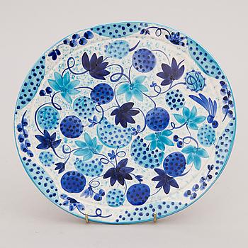 "DORRIT VON FIEANDT, FAT, ""Blue Lady""keramik, signerad DF, Pro Arte, Arabia Finland, numrerad  26/92."