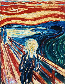 """234. Vik Muniz, """"The Scream, after Edvard Munch from Pictures of Pigment"""", 2006."""