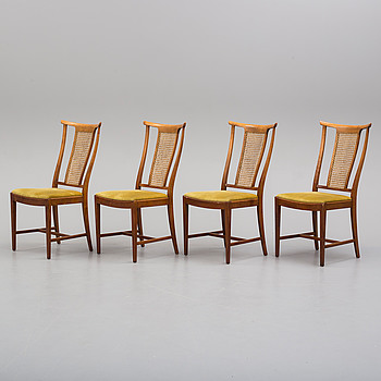 a set of four Bodafors chairs, 1950/60's.