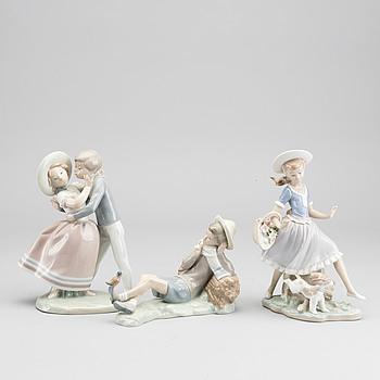 LLADRO, porslin, 3 st figuriner.