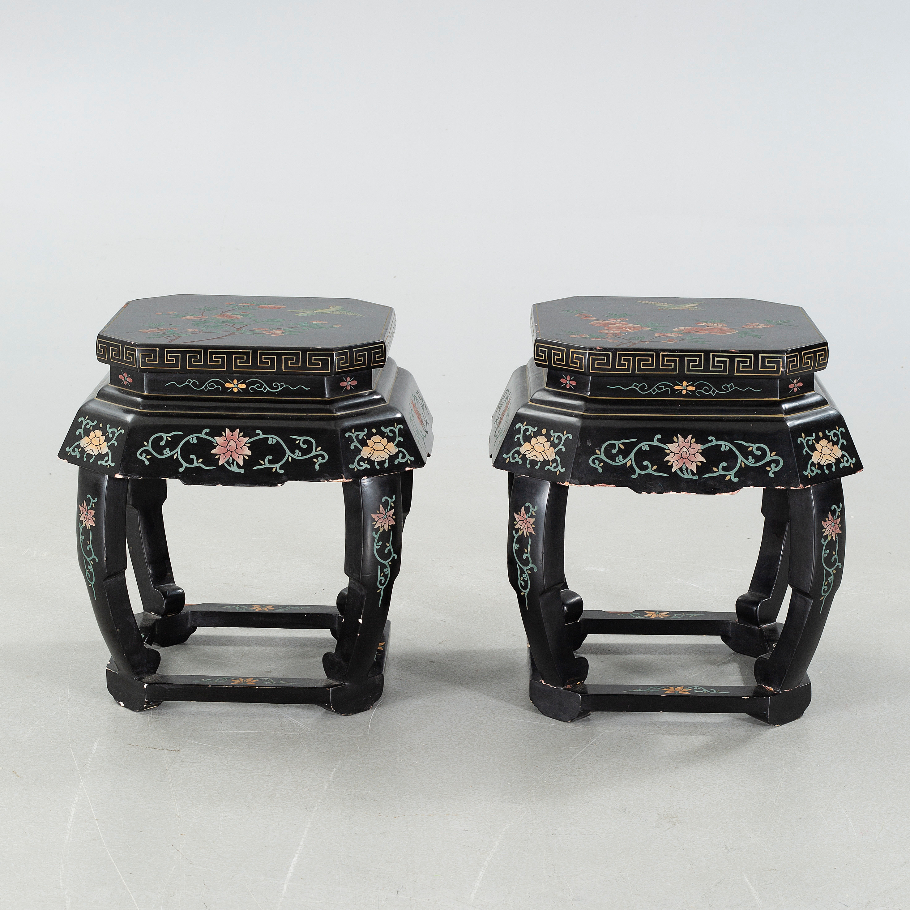 A pair of late 20th century chinese side lamp tables bukowskis mozeypictures Image collections