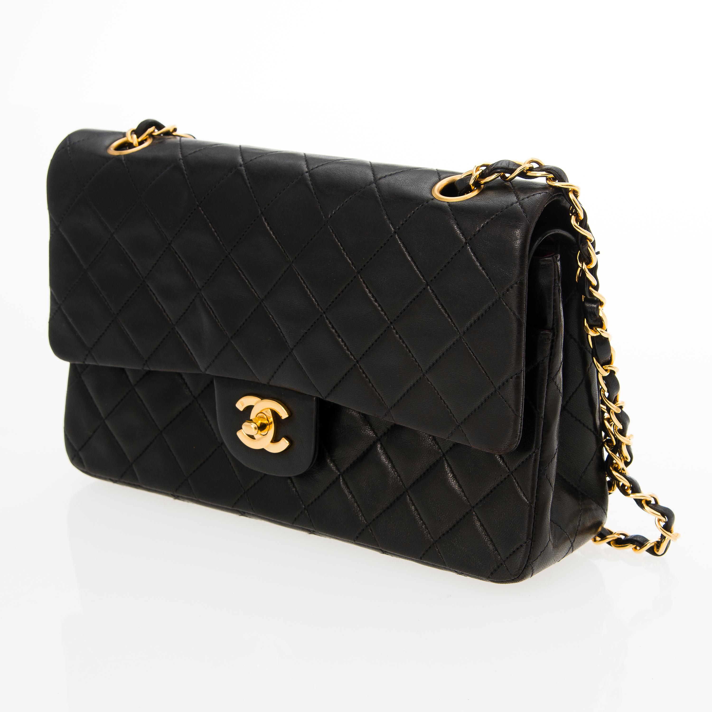 A Black Double Flap Bag. - Bukowskis e38a3c9916
