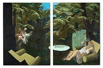 "414. Peter Dahl, ""Grön exteriör""."
