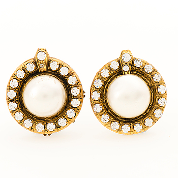 A Pair of 1970s Strass Earrings.