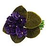 A velvet flower bouquet brooch.