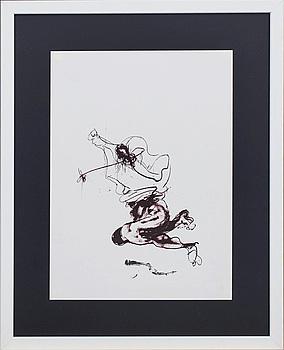 PAUL REBEYROLLE, färglitografi, ur Derrière le Miroir nr 250 1982.