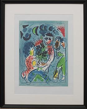 MARC CHAGALL, färglitografi, ur Chagall Lithographe III.